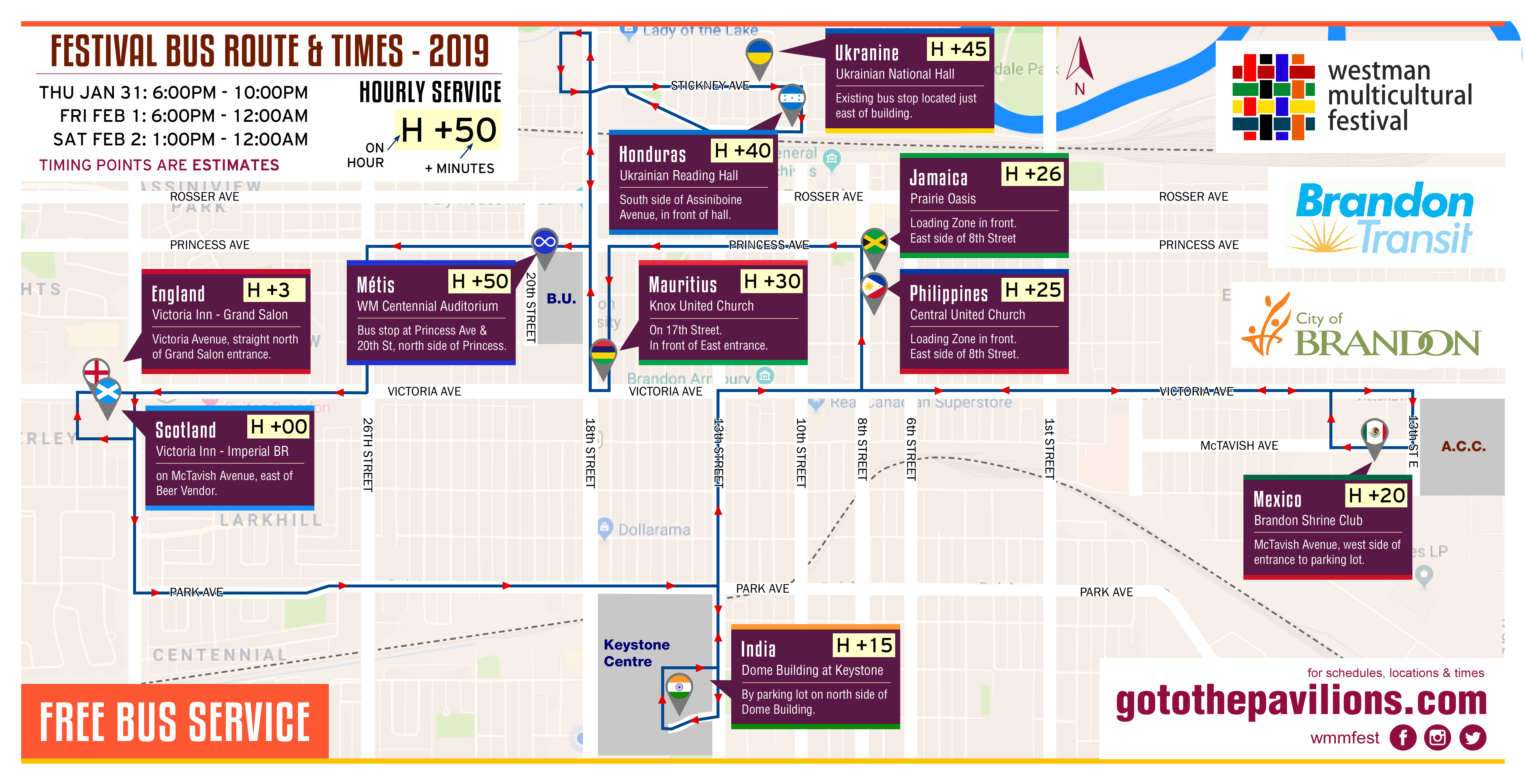 Free Bus Map Amp Schedule Westman Multicultural Festival